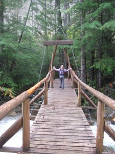 The sweet little bridge at the Clive Creek crossing, en route to Hamill